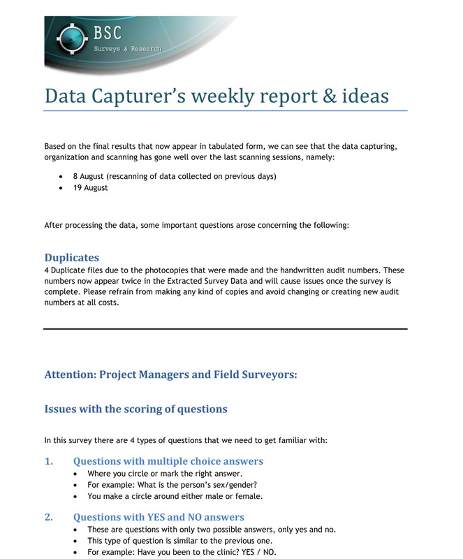 Survey Report Sample. Surveys Customer Staff Employee Employment ...
